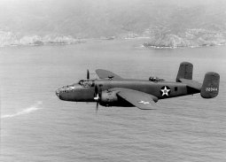 Low-level gunship of the North American B-25 Mitchell