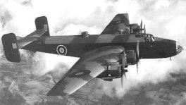The Handley Page Halifax a seven-seat long-range heavy bomber