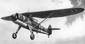 Henschel Hs 126 with high lift wing
